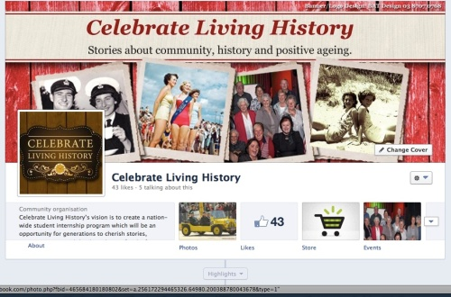 Hooray Celebrate Living History Facebook makeover!